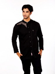 BAJU KOKO FURSAN PANTHER BLACK LONG