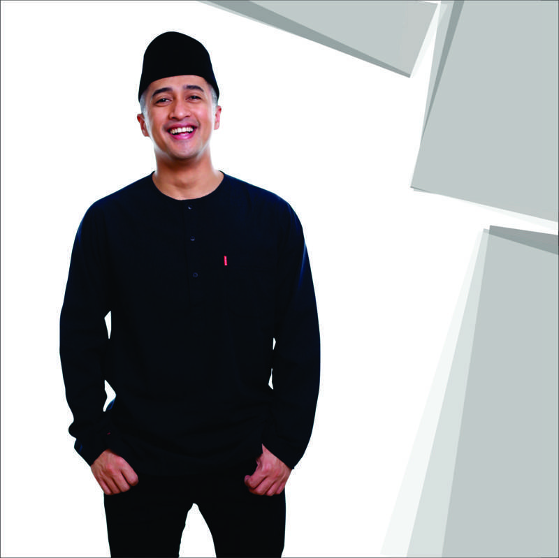 BAJU KOKO URBAN TARKHANI DARK BLACK LONG